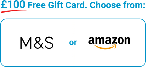 Free £100 gift card when you buy life cover online